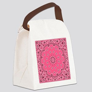 Pink Bandana Canvas Lunch Bag