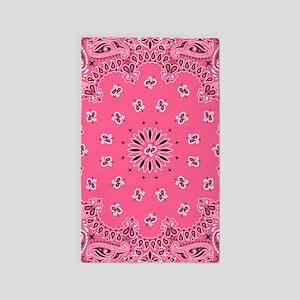 Pink Bandana Area Rug