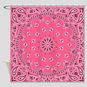 Pink Bandana Shower Curtain