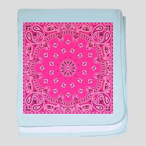 Pink Bandana baby blanket
