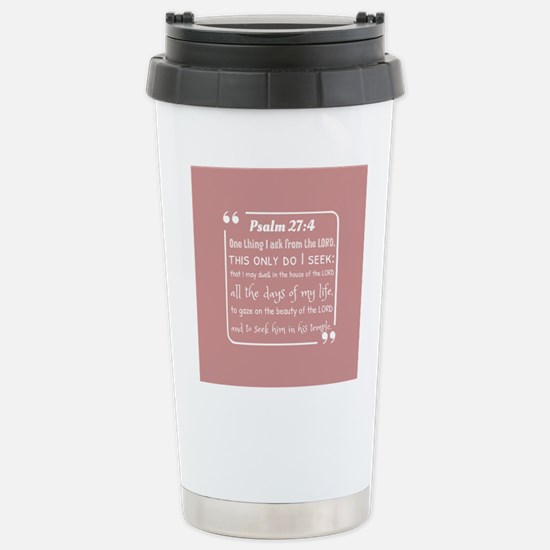 bible verses about fait Stainless Steel Travel Mug