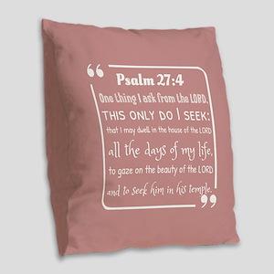 bible verses about faith and h Burlap Throw Pillow