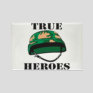 True Heroes Helmet Rectangle Magnet
