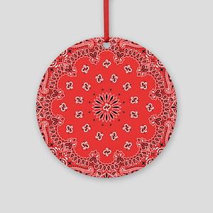 Red Bandana Round Ornament