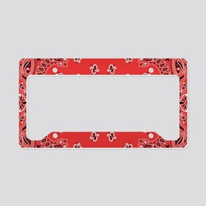 Red Bandana License Plate Holder