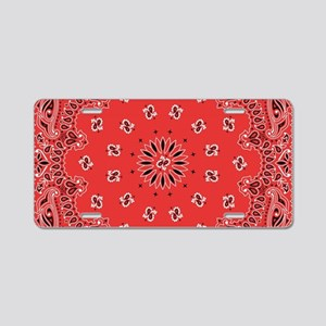 Red Bandana Aluminum License Plate