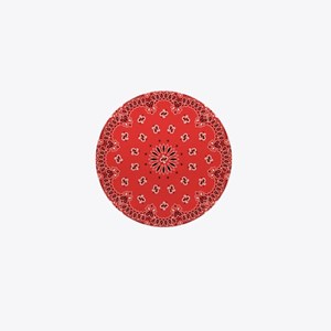 Red Bandana Mini Button