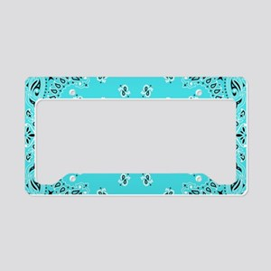 Turquoise Bandana License Plate Holder
