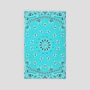 Turquoise Bandana Area Rug