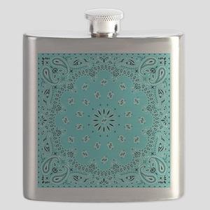 Turquoise Bandana Flask