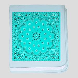 Turquoise Bandana baby blanket