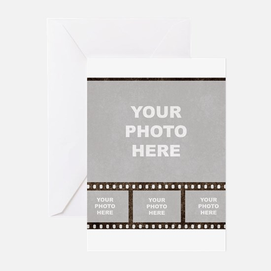 Custom Vintage Film Strip Greeting Cards