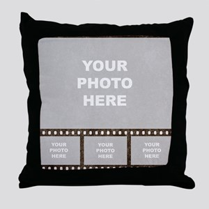 Custom Vintage Film Strip Throw Pillow