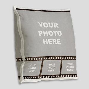 Custom Vintage Film Strip Burlap Throw Pillow