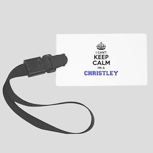 CHRISTLEY I cant keeep calm Large Luggage Tag