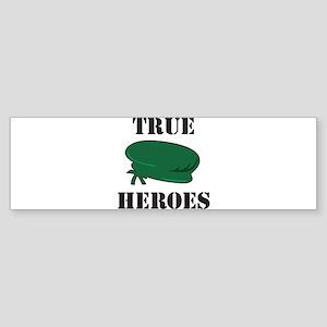 True Heroes Green Beret Bumper Sticker