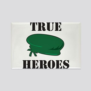 True Heroes Green Beret Rectangle Magnet