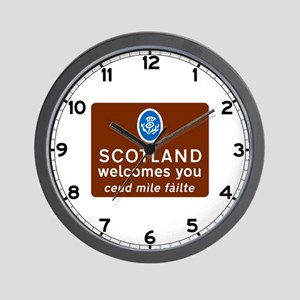 Scotland Welcomes You, UK Wall Clock