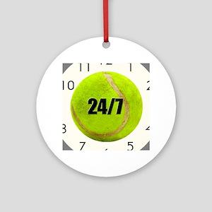 Tennis 24/7 Round Ornament