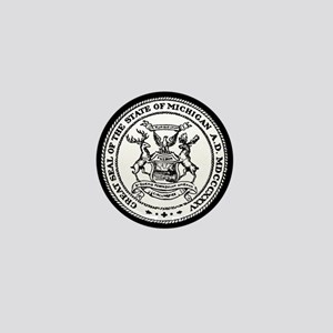 Great Seal Of The State Of Michigan Mini Button