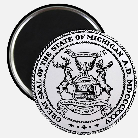 Great Seal Of The State Michigan Magnet Magnets