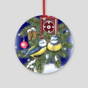 Season Greetings Round Ornament