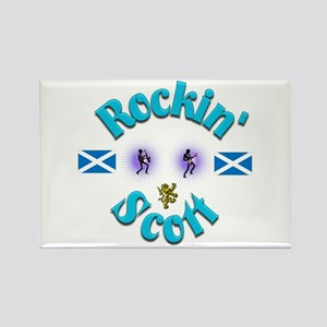 Rockin' Scott. Rectangle Magnet