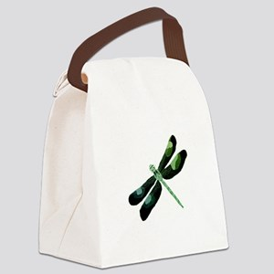 Green Dragonfly Canvas Lunch Bag