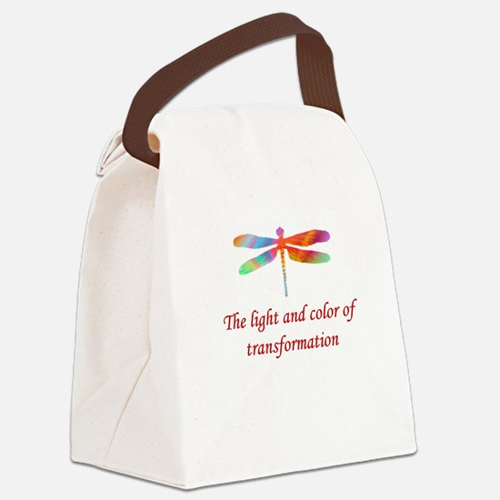 Dragonfly Transformation Canvas Lunch Bag