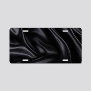 Black Silk Aluminum License Plate