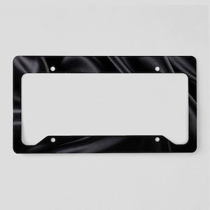 Black Silk License Plate Holder