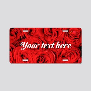 Custom Roses Aluminum License Plate