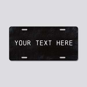 Custom Chalkboard Aluminum License Plate