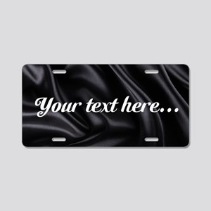 Custom Black Silk Aluminum License Plate
