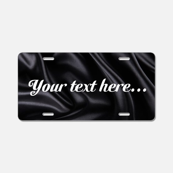 Custom Black Silk Aluminum License Plate