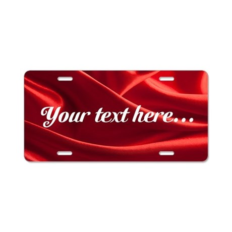 Custom Red Silk Aluminum License Plate  sc 1 st  CafePress & Decorative Aluminum License Plates - CafePress
