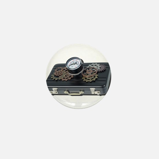Briefcase Gauge Gears Mini Button