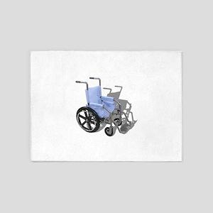 WheelchairBlueSeat073110 5'x7'Area Rug