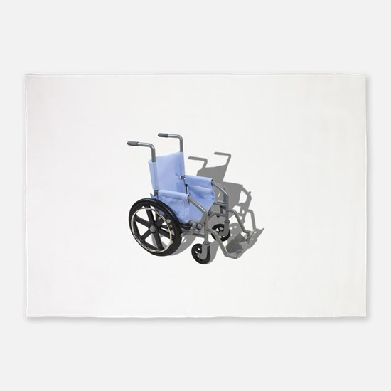 WheelchairBlueSeat073110.png 5'x7'Area Rug