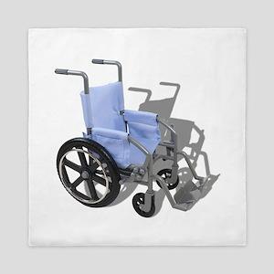 WheelchairBlueSeat073110 Queen Duvet