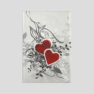 Valentine Hearts Rectangle Magnet