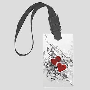Valentine Hearts Large Luggage Tag