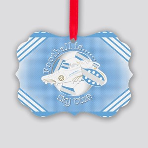 Sky Blue Football Soccer Ornament