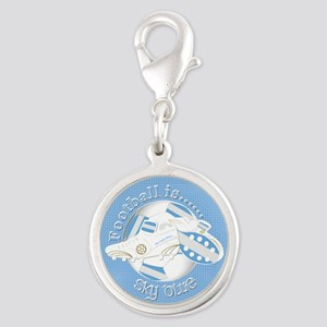 Sky Blue Football Soccer Charms