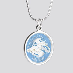 Sky Blue Football Soccer Necklaces