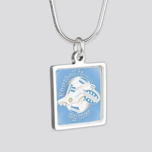 Sky Blue Football Soccer Necklaces