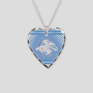 Sky Blue Football Soccer Necklace