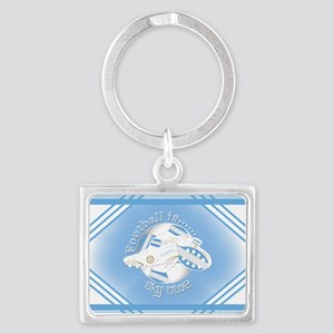Sky Blue Football Soccer Keychains