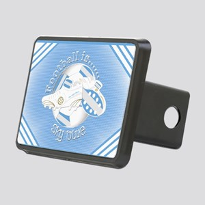 Sky Blue Football Soccer Hitch Cover