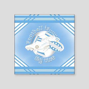 Sky Blue Football Soccer Sticker